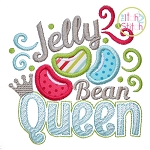 Jelly Bean Queen Applique