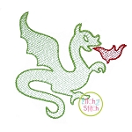 Knight Dragon Embroidery