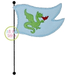 Knight Flag Bean Applique