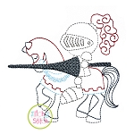 Knight Riding Horse Embroidery