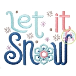 Let it Snow Embroidery