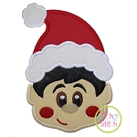 Little Elf Face Boy Applique