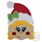 Little Elf Face Girl Applique