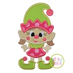 Little Elfie Girl Applique