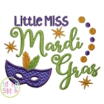 Little Miss Mardi Gras Applique