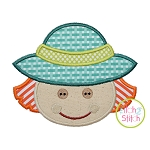 Little Scarecrow Face Boy Applique