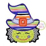 Little Witch Face Applique