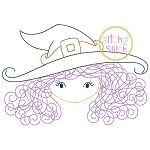 Little Witch Face Bean Embroidery