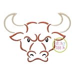 Longhorn Mascot Embroidery