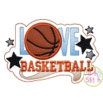 Love Basketball Applique