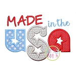 Made in the USA Applique