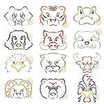 Mascot Embroidery Design Set