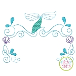 Mermaid Princess Frame Embroidery