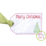 ITH Merry Christmas Tree Gift Card Holder and Tag