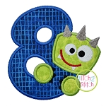 Monster Numbers Set Applique