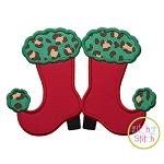 Mrs Claus Boots Applique