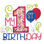 My 1st Birthday Applique