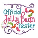 Official Jelly Bean Tester Embroidery