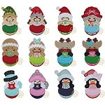 Christmas Ornament Peekers Applique Set