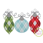 Ornament Trio ZigZag Applique