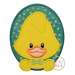 Oval Duck Boy Applique
