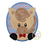 Oval Horse Boy Applique