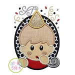 Oval Party Boy Applique