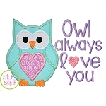 Owl Always Love You 2 Applique