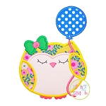 Owl Balloon Applique