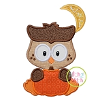 Owl with Pumpkin Boy Applique