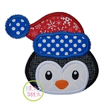 Winter Penguin Face Boy Applique