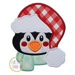 Penguin Fluffy Hat Applique