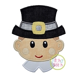 Pilgrim Head Boy Applique