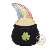 Pot of Gold Rainbow Applique
