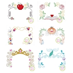 Princess Frame Embroidery Set