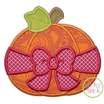 Pumpkin Big Bow Applique