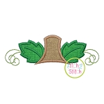 Pumpkin Monogram Topper Applique