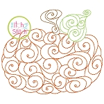 Pumpkin Swirls Bean Embroidery