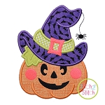 JackOLantern Witch Hat Applique
