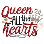 Queen of All the Hearts Embroidery
