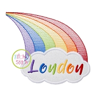 Rainbow Cloud Name Applique
