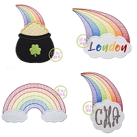 Rainbow Design Applique Set