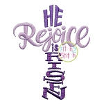 Rejoice He is Risen Embroidery