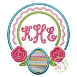 Rose Egg Frame Applique