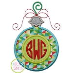 Round Ornament Monogram Applique