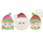 Santa Elves Trio Sketch Embroidery