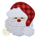 Santa Fluffy Hat Applique
