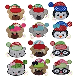 Winter Critters Faces Applique Set