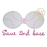 Save 2nd Base Applique