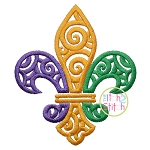 Scroll Fleur De Lis Embroidery